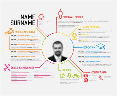 creative resume template design vectors 04 free