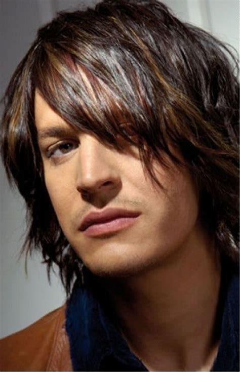 mens hair styles shag long layered hairstyle kriwul