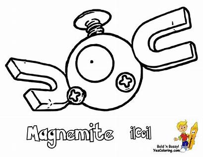 Pokemon Poliwag Coloring Magnemite Printables Yescoloring Cloyster