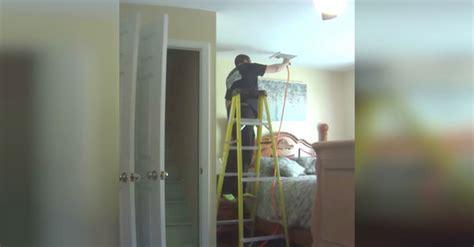 hidden camera catches  ac repairman