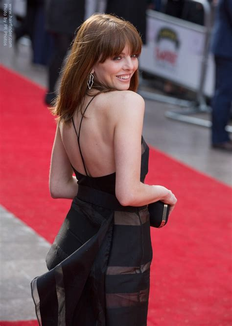 ophelia lovibond long chestnut brown bob hairstyle