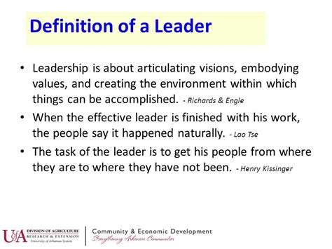 profile of a leader ppt
