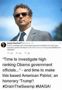 Senator Rand Paul 10h Time to Investigate High Ranking ...