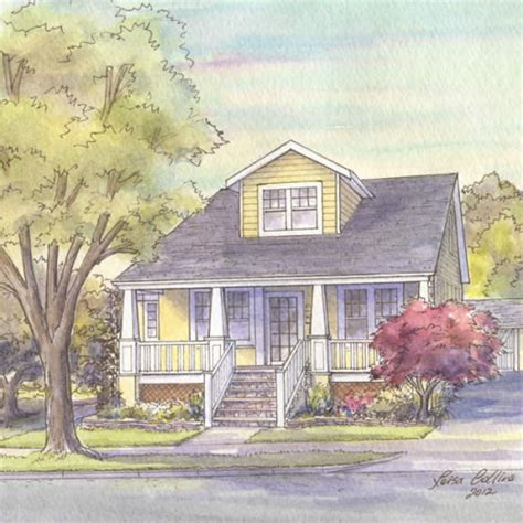 House Portraits Bungalow Style Homes Gallery