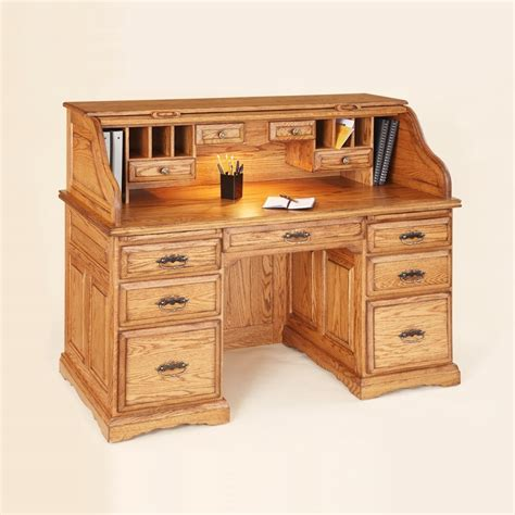solid hardwood furniture 55 quot roll top writing desk country furniture