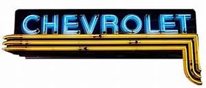 Chevrolet Horizontal Dealer Neon Sign Replica Series II
