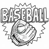 Baseball Coloring Sports Pages Glove Doodle Printable Mitt Drawing Vector Teams Sketch Illustration Ball Sport Sheets Format Colouring Adult Catcher sketch template