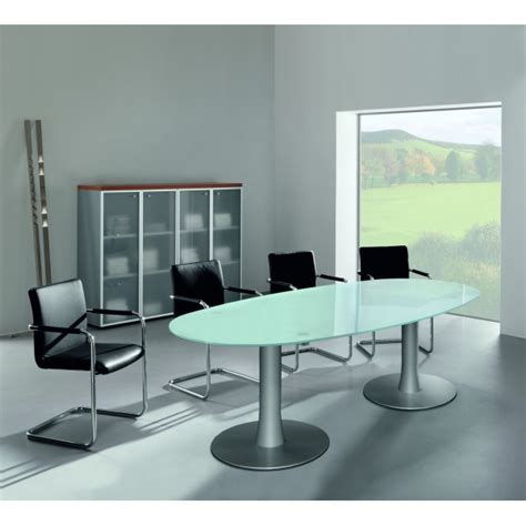 bureau table en verre table ovale en verre oakland 8 places lemondedubureau
