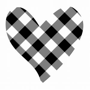 Heart black and white heart clipart black and white double ...