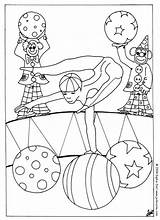 Circus Pages Coloring Acrobat Printable Sheet Bear Animal Things Hellokids Characters Trained sketch template