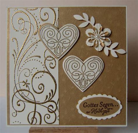 handmade card wedding card gold gold embossing