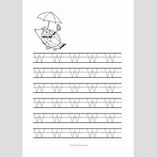 Free Printable Tracing Letter W Worksheets For Preschool  Coloring Pages For Kids