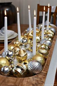 silver, and, gold, christmas, tablescape