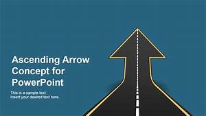 Ascending Road Arrow Concept For Powerpoint