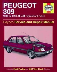 Peugeot 309 Petrol 1986 1993 Haynes Service Repair Manual