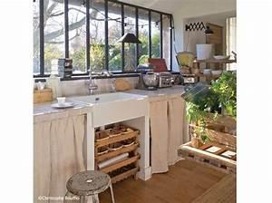 Cuisine Ancienne Campagne : une jolie maison entre esprit campagne et r cup 39 elle d coration ~ Nature-et-papiers.com Idées de Décoration