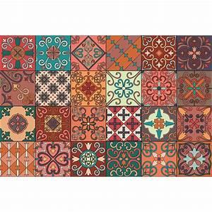 Stickers Carreaux De Ciment : 24 stickers carreaux de ciment azulejos giordano cuisine ~ Premium-room.com Idées de Décoration