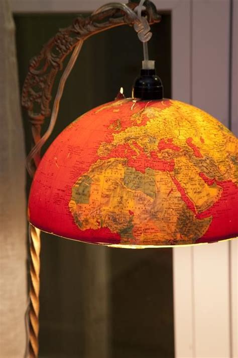 creative diy repurposed globe ideas