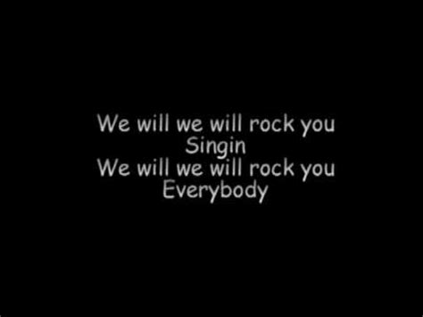 We Will Rock Youqueen (lyrics) Youtube