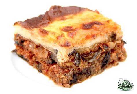 recettes de julie andrieu cuisine la cuisine de bernard moussaka grecque
