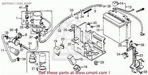 Honda Vf1100c Magna 1983  D  Usa Battery    Fuel Pump