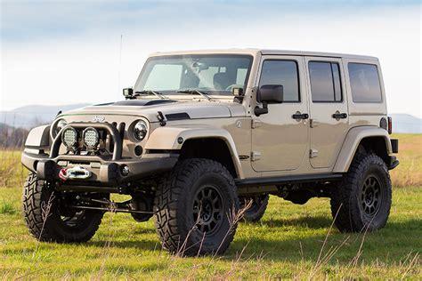 tan jeep lifted custom jeep wrangler rubicon mojave sand tan aev 4 5 lift