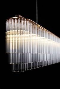 Original design chandelier glass linear tom kirk