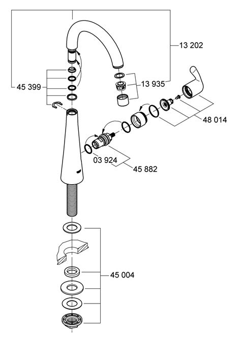 grohe kitchen faucet replacement parts grohe kitchen faucet parts diagram grohe europlus 33853