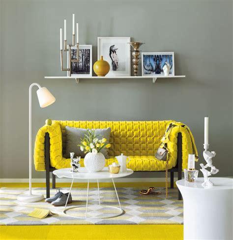 modern living room design ideas  yellow sofa