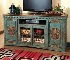 Western Furniture: Santa Maria Turquoise Entertainment