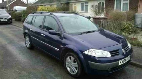 renault megane 2004 blue renault 2004 megane dynamique dci 80 blue car for sale