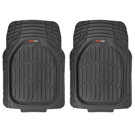 Motortrend Deep Dish Rubber Floor Mats & Cargo Set  Black