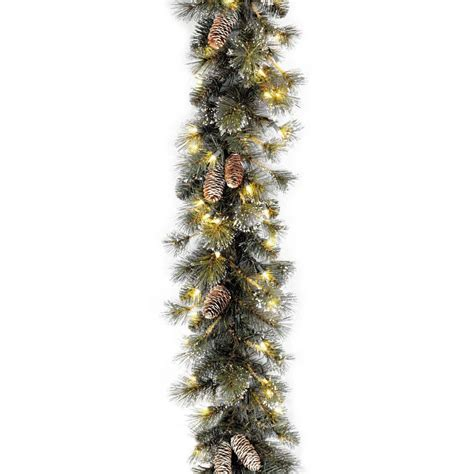 garland with lights ge 36 ft classics artificial garland with 100