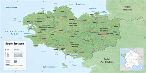die bretagne eine region  westfrankreich