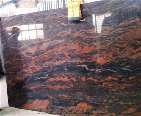 Magma Red Granite Slabs Tiles from India   StoneContact.com