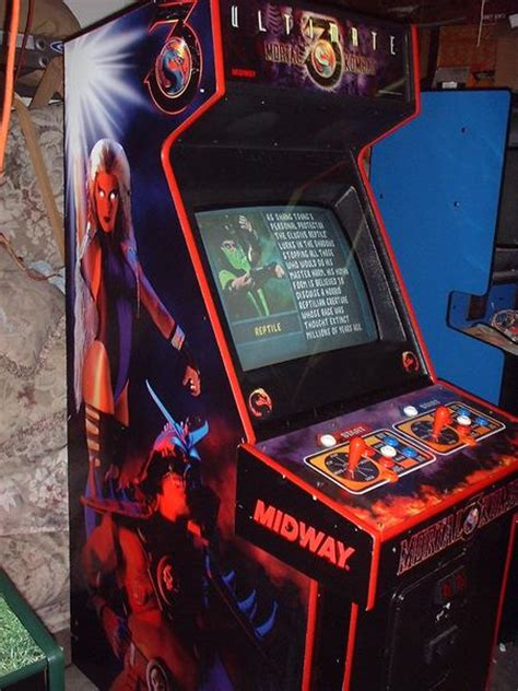 Mortal Kombat Arcade Cabinet by Ultimate Mortal Kombat 3 Videogame By Midway