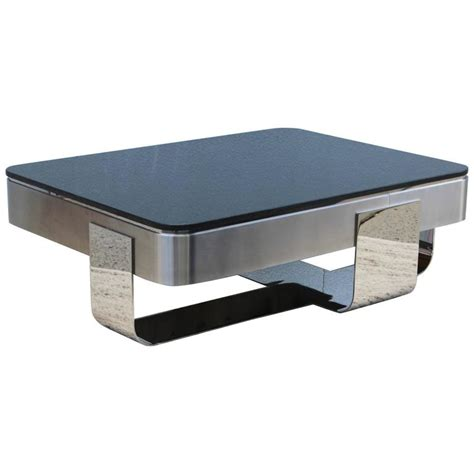 granite top tables for sale brueton polished steel with granite top coffee table for