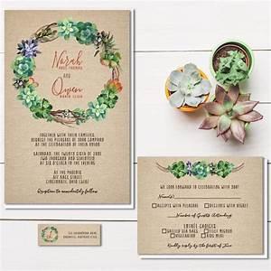 succulent wedding invitations rustic burlap wedding With wedding invitations you can plant
