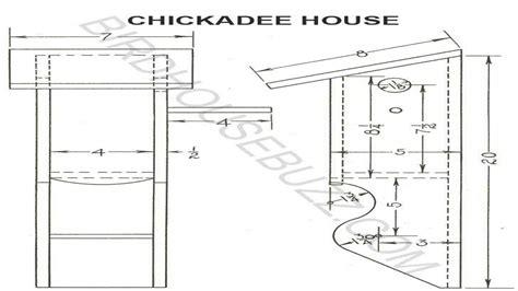 chickadee bird house hole size  chickadee bird house plans printable blueprints