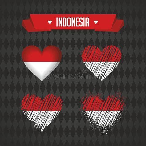 indonesia map  flag    black background