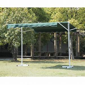 Outsunny Double Sided Patio Manual Awning Sun Canopy Shade