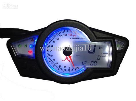 Lcd Digital Odometer Speedometer Motorcycle Tachometer