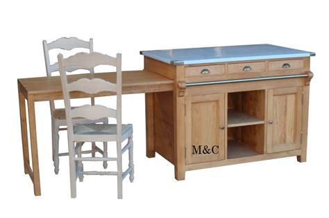 meuble cuisine ilot central ilot central en bois massif