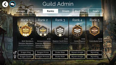 managing  guild   leader guild admin gems  war