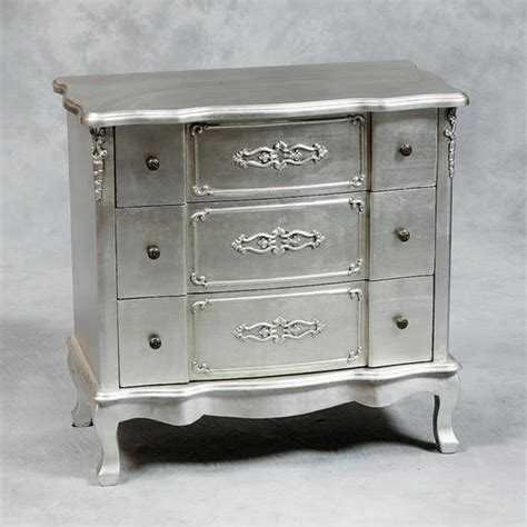 shabby chic silver furniture shabby chic silver leaf chest wow home fashion pinterest shabby chic and furniture