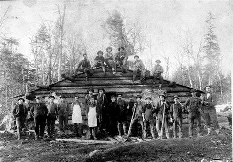 maine loggers maine logging camp circa
