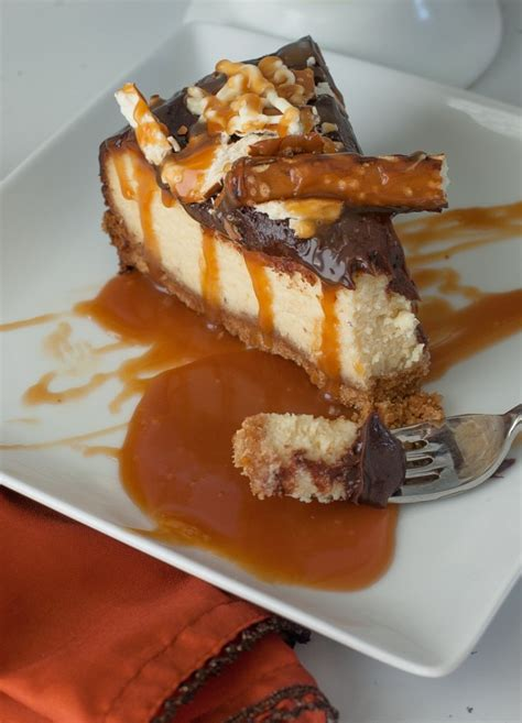 Press onto bottom of pan. Chocolate Salted Caramel Cheesecake Recipe with Philadelphia Cream Cheese - Frog Prince Paperie