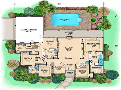 5 Bedroom 3 Bathroom House Plans Fascinating 3 Bedroom 2 Bath House Plans The Wooden Houses
