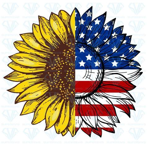 If you are new to dreaming tree, this is a wonderful place to start. Sunflower American Flag SVG Files For Silhouette, Files ...