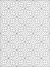 Coloring Geometric Geometrical Printable sketch template